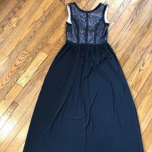 Nightway Sequin Gown Floor Length Black 10